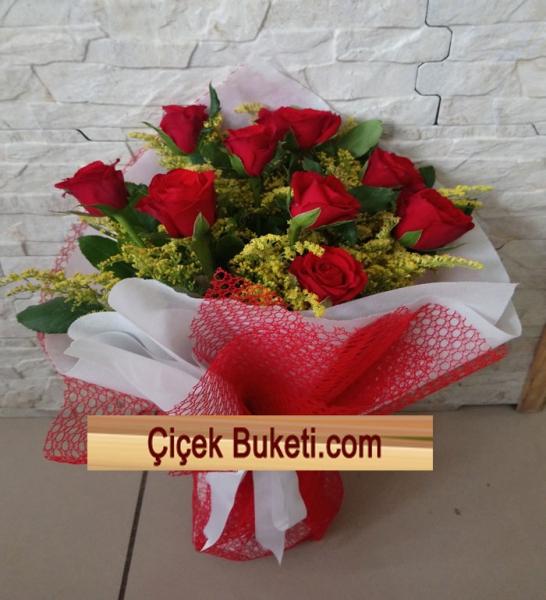 Bayrampaşa Çiçekçi Kırmızı Gül Buketi 9