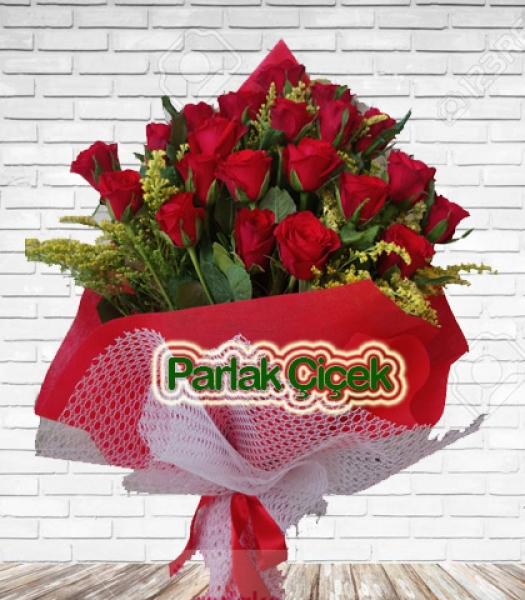 Bayrampaşa Çiçekçi Kırmızı Gül Buketi 21