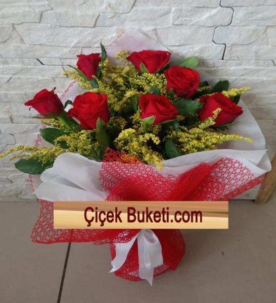 Bayrampaşa Çiçekçi Kırmızı Gül Buketi 7