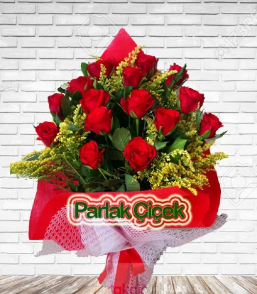 Bayrampaşa Çiçekçi Kırmızı Gül Buketi 15