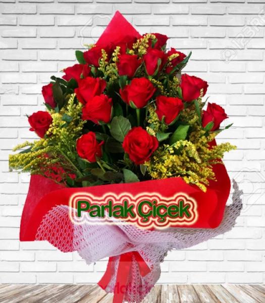 Bayrampaşa Çiçekçi Aşkın Adı Kırmızı Gül Buketi 17